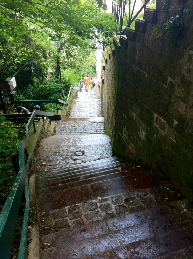 Kurzbuckel steps to the castle Heidelberg June 2015