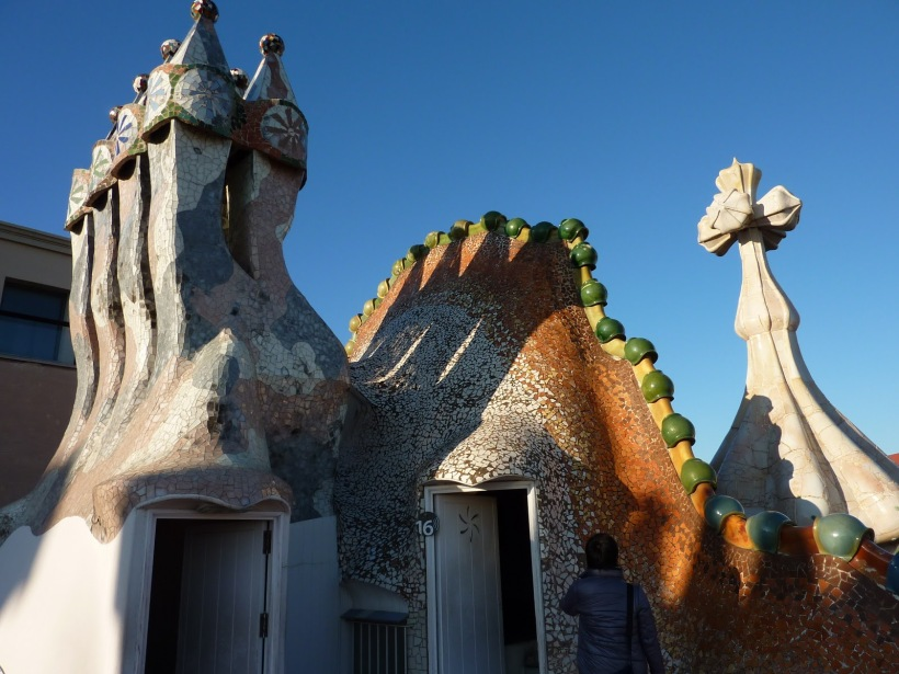 Casa Batllo chimney dragon and tower