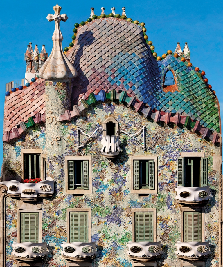 Casa Batllo Roof from Street